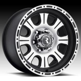 RACELINE WHEELS   894 MONSTER BLACK RIM with MACHINED FACE