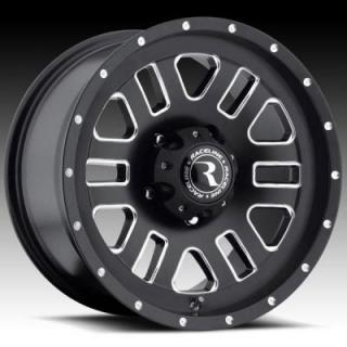 RACELINE WHEELS  922 CLUTCH BLACK RIM with MILLED FINISH