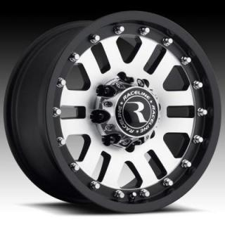 RACELINE WHEELS  923 HAMMER BLACK RIM with MACHINED FACE