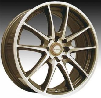 NINJA WHEELS  NJ01 BRONZE RIM with MACHINED FACE