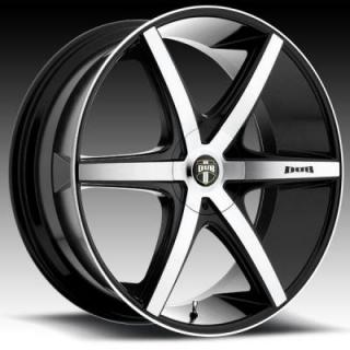 RIO 6 S113 BLACK RIM with MACHINED FACE from DUB WHEELS