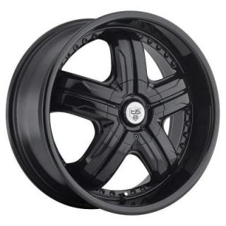 TIS WHEELS  533B GLOSS BLACK RIM with BLACK RIVETS 5-SPOKE