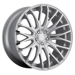 TIS WHEELS  537MS SILVER RIM with MIRROR MACHINED LIP