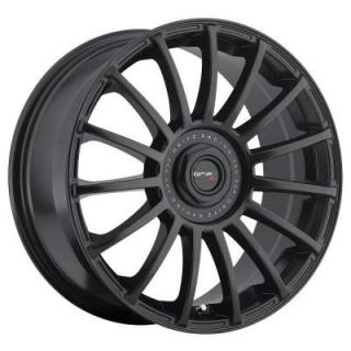 DRIFZ WHEELS  306B HALO SATIN BLACK RIM