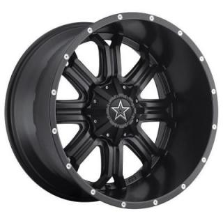 SPECIAL BUY WHEELS  535B SATIN BLACK CNC MILLED LIP ACCENTS-PPT