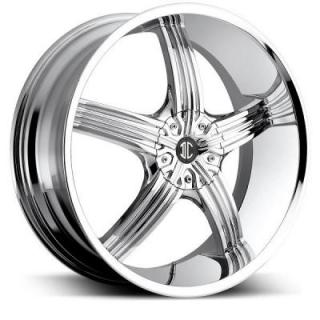 2 CRAVE WHEELS  2 CRAVE N23 CHROME