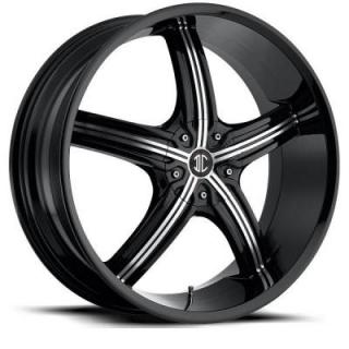 2 CRAVE WHEELS  2 CRAVE N23 GLOSS BLACK WITH MACHINED FACE