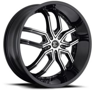 2 CRAVE WHEELS  2 CRAVE N20 GLOSSY BLACK WITH MACHINED FACE