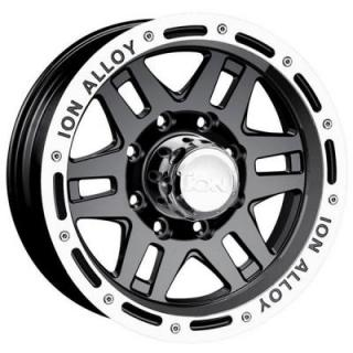 ION ALLOY WHEELS  TYPE 133 BLACK RIM with MACHINED LIP