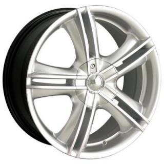 ION ALLOY WHEELS  TYPE 161 HYPERSILVER RIM with MACHINED FACE