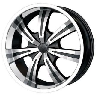 DIP WHEELS  GUNNER BLACK RIM with MACHINED LIP