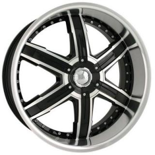 DIP WHEELS  HEAT BLACK RIM with MACHINED FACE and LIP