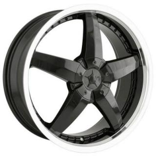 DIP WHEELS  LASER BLACK RIM with MACHINED LIP