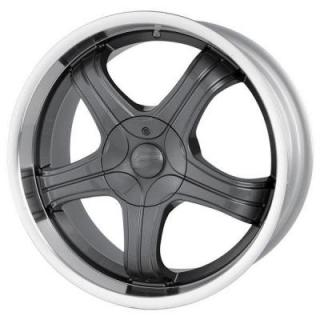 SACCHI WHEELS  S22 HYPERBLACK RIM with MACHINED LIP