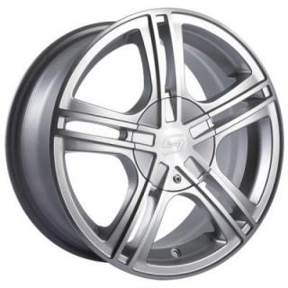 SACCHI WHEELS  S62 HYPERSILVER RIM with MACHINED FACE and LIP