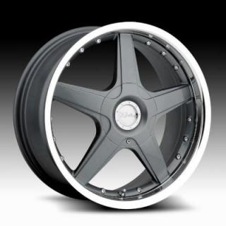 SPECIAL BUY WHEELS  RACELINE WHEELS 125 GREY RIM with MIRROR LIP