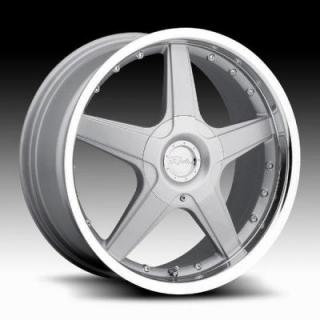 SPECIAL BUY WHEELS  RACELINE 125 SILVER RIM with MIRROR LIP