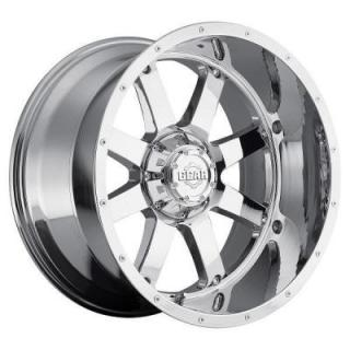 SPECIAL BUY WHEELS  GEAR ALLOY WHEELS 726C BIG BLOCK CHROME PLATED COVERED CAP PPT