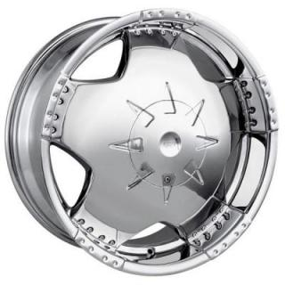 MPW WHEELS  MP104 CHROME RIM