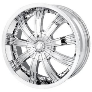 MPW WHEELS  MP108 CHROME RIM