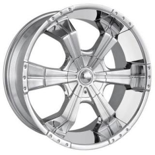 MPW WHEELS  MP204 CHROME RIM