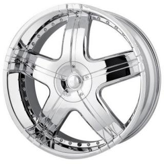 MPW WHEELS  MP206 CHROME RIM