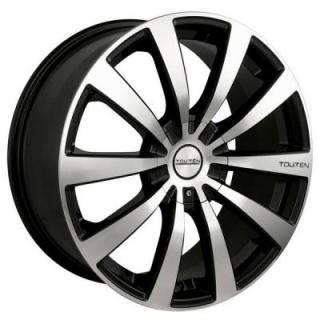 TR3 BLACK RIM with MACHINED FACE from TOUREN WHEELS