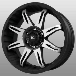 V-ROCK WHEELS  VR5 CORE BLACK RIM with MACHINED FACE