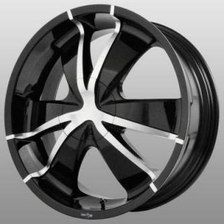ENVY WHEELS  TARANTULAS BLACK RIM with MACHINED FACE