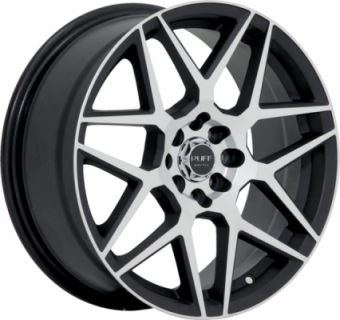 SPECIAL BUY WHEELS  RUFF RACING WHEELS R351 FLAT BLACK MACHINED FACE PTT