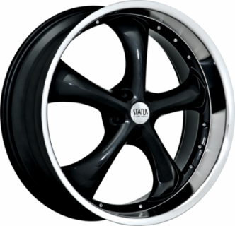 SPECIAL BUY WHEELS  STATUS WHEELS - RETRO GLOSS BLACK MACHINED LIP PPT