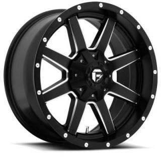 SPECIAL BUY WHEELS  FUEL OFFROAD D538 MAVERICK BLACK MILLED-PPT