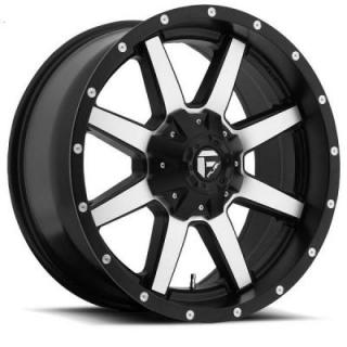 MAVERICK D537 BLACK RIM with MACHINED FACE from FUEL OFFROAD WHEELS