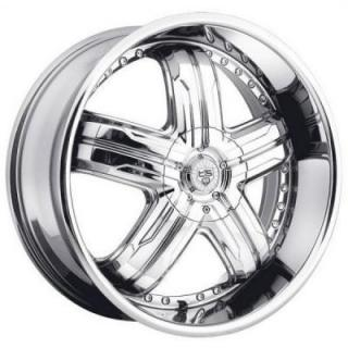 TIS WHEELS  533C CHROME RIM 5-SPOKE