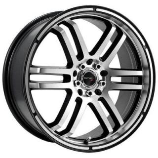 DRIFZ WHEELS  207MB MACHINED RIM with BLACK ACCENTS