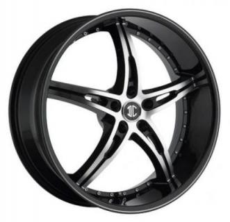 2 CRAVE WHEELS  2 CRAVE N14 BLACK/MACHINED RIM