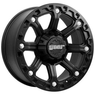 GEAR ALLOY WHEELS  718B BLACKJACK BLACK RIM