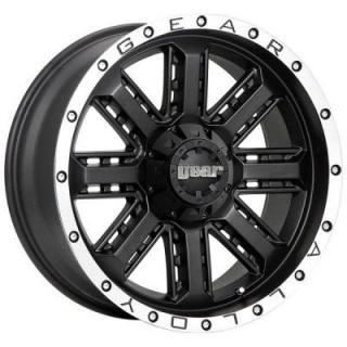 GEAR ALLOY WHEELS  723MB NITRO BLACK RIM with MACHINED ACCENTS
