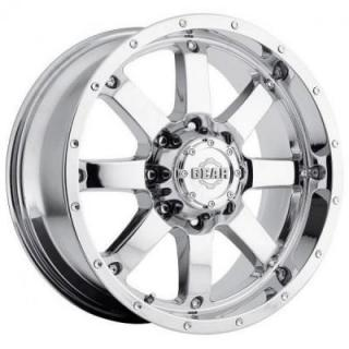 GEAR ALLOY WHEELS  726C BIG BLOCK CHROME PLATED RIM 8-LUG
