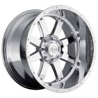 GEAR ALLOY WHEELS  726C BIG BLOCK CHROME PLATED RIM with COVERED CAP