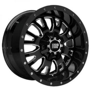 ASSASSIN 89R BLACK RIM with MACHINED ACCENTS by RBP WHEELS