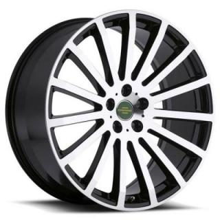 REDBOURNE WHEELS   DOMINUS GLOSS BLACK RIM with MIRROR CUT FACE