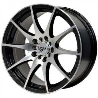 SPECIAL BUY WHEELS  GFX WHEELS G10 GLOSS BLACK/MACHINED FACE