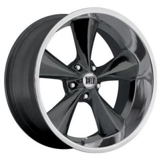 BOYDS WHEELS  JUNKYARD DOG GUNMETAL GUNMETAL AND MACHINED LIP