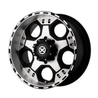 SPECIAL BUY WHEELS  ATX SERIES AX184 JUSTICE MATTE BLACK MACHINED PPT