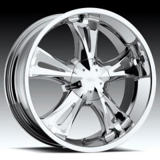 MILANNI WHEELS  BITCHIN 554 RWD CHROME RIM
