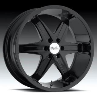 MILANNI WHEELS  KOOL WHIP-6 446 RWD GLOSS BLACK RIM with CHROME CAP