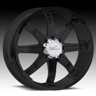 KOOL WHIP-8 446 RWD MATTE BLACK RIM and CHROME CAP from MILANNI WHEELS