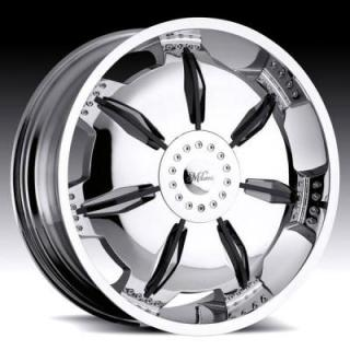 MILANNI WHEELS  PARALYZER 455 FWD CHROME RIM with BLACK INSERTS