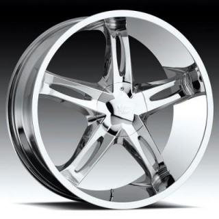 VISION WHEELS  HOLLYWOOD 5 435 RWD CHROME RIM